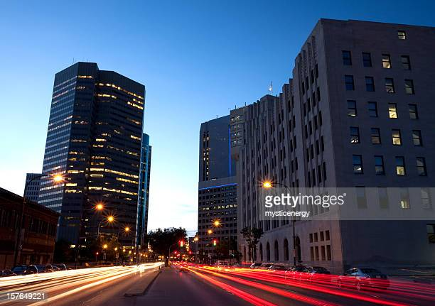 winnipeg looking north - winnipeg stock pictures, royalty-free photos & images