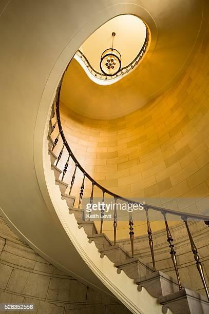 Winnipeg, Manitoba, Canada; winding staircase