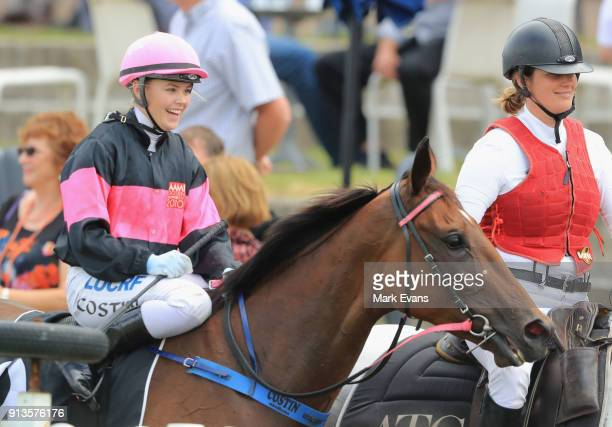 Winona Costin on Bye See returns to scale after winning race 6 during Sydney Racing at Rosehill Gardens on February 3 2018 in Sydney Australia