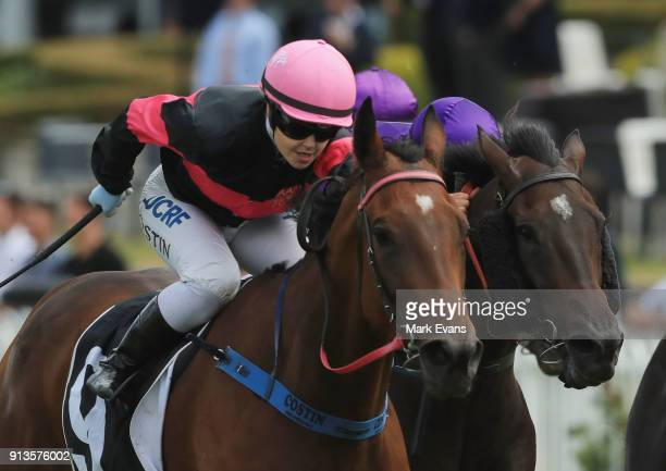 Winona Costin on Bye See wins race 6 during Sydney Racing at Rosehill Gardens on February 3 2018 in Sydney Australia