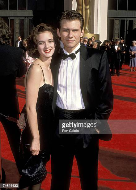 Winona Ryder and Christian Slater at the Shrine Auditorium in Los Angeles California