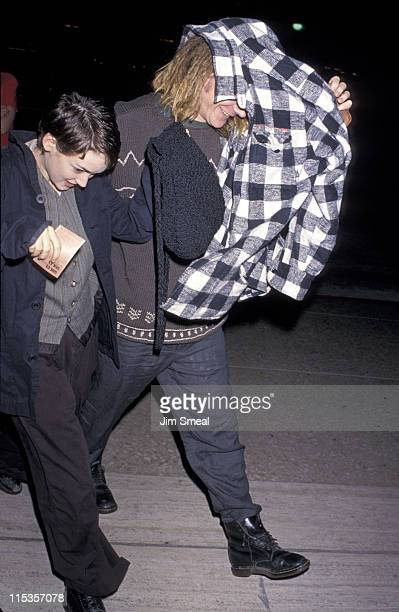 Winona Ryder and Dave Pirner during Opening of 'Sunset Boulevard' February 2 1994 at Shubert Theater in Century City California United States