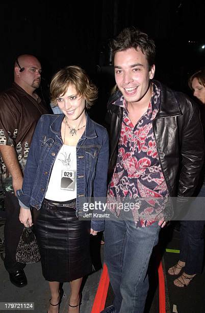 Winona Ryder and Jimmy Fallon during 2000 MTV Movie Awards at Sony Studios in Culver City California United States
