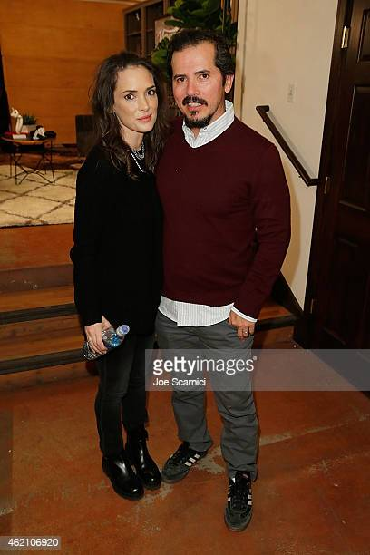 Wynona Ryder and John Leguizamo attend The Variety Studio At Sundance Presented By Dockers Day 1 on January 24 2015 in Park City Utah