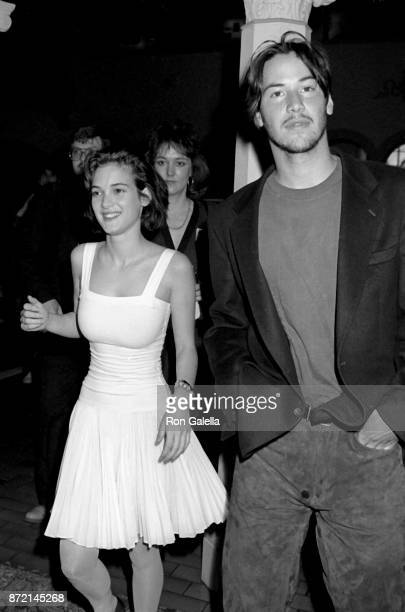 Winona Ryder and Keanu Reeves attend Fourth Annual Independent Spirit Awards on March 25 1989 at the Hollywood Roosevelt Hotel in Hollywood California