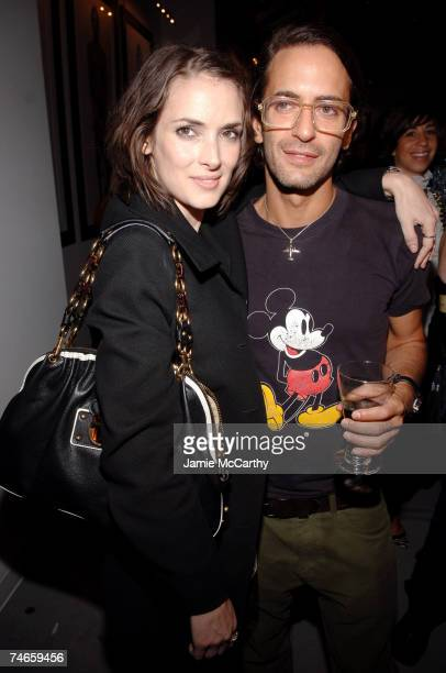 Winona Ryder and Marc Jacobs designer at the Gramercy Hotel in New York City New York