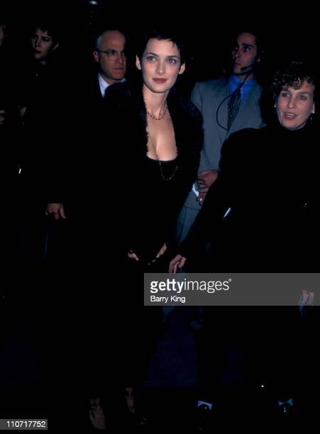 """Winona Ryder and publicist Jennifer Allen during """"The Crucible"""" Los Angeles Premiere at AMPAS Goldwyn Theater in Beverly Hills, California, United..."""