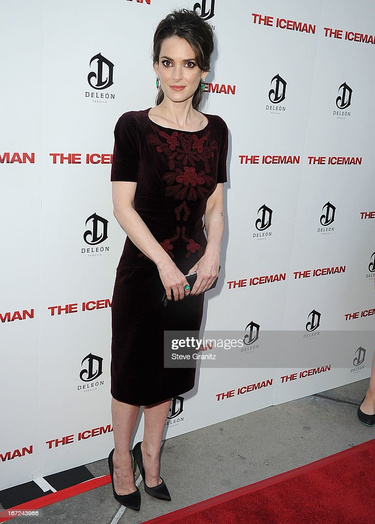 Winona Ryder arrives at the 'The Iceman' - Los Angeles Premiere on April 22, 2013 in Hollywood, California.