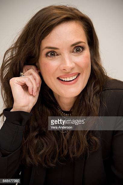 Winona Ryder at the 'Stranger Things' Press Conference at the Four Seasons Hotel on July 7 2016 in Beverly Hills California
