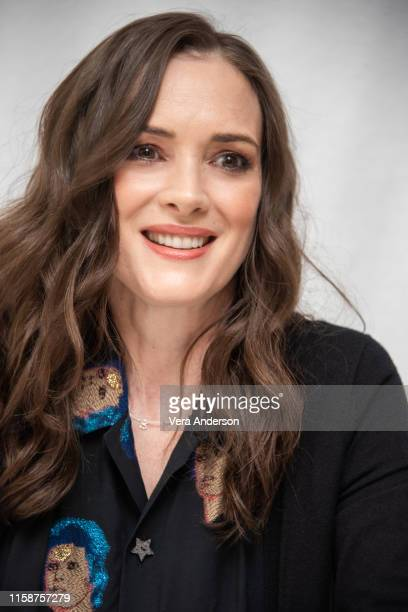 """Winona Ryder at the """"Stranger Things"""" Press Conference at The London Hotel on June 27, 2019 in West Hollywood, California."""