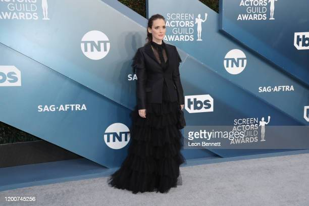 Winona Ryder attends 26th Annual Screen Actors Guild Awards at The Shrine Auditorium on January 19 2020 in Los Angeles California
