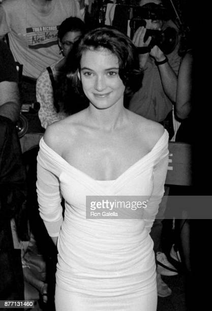 Winona Ryder attends 'Great Balls of Fire' Premiere on June 26 1989 at the Ziegfeld Theater in New York City