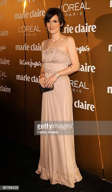 Winona Ryder attends Marie Claire Prix de la Mode 2008 awards at French Embassy on November 20 2008 in Madrid Spain