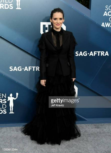 Winona Ryder attends the 26th Annual Screen ActorsGuild Awards at The Shrine Auditorium on January 19, 2020 in Los Angeles, California.