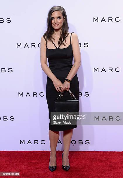 Winona Ryder attends the Marc Jacobs Spring 2016 fashion show during New York Fashion Week at Ziegfeld Theater on September 17 2015 in New York City