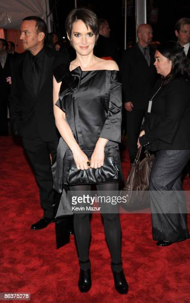 Winona Ryder attends 'The Model as Muse Embodying Fashion' Costume Institute Gala at The Metropolitan Museum of Art on May 4 2009 in New York City