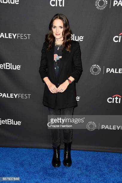 Winona Ryder attends The Paley Center for Media's 35th Annual PaleyFest Los Angeles 'Stranger Things' at Dolby Theatre on March 25 2018 in Hollywood...
