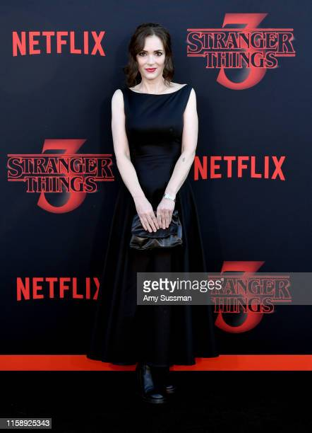 Winona Ryder attends the premiere of Netflix's Stranger Things Season 3 on June 28 2019 in Santa Monica California
