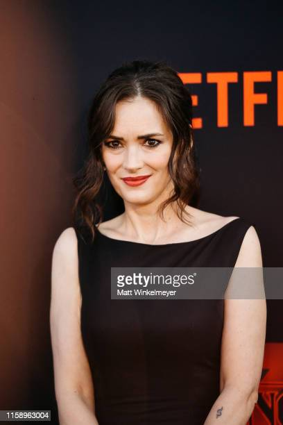 "Winona Ryder attends the premiere of Netflix's ""Stranger Things"" Season 3 on June 28, 2019 in Santa Monica, California."