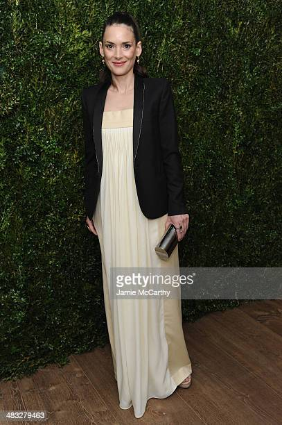 Winona Ryder attends the Vogue The Cinema Society screening of 'Turks and Caicos' at the Crosby Street Hotel on April 7 2014 in New York City