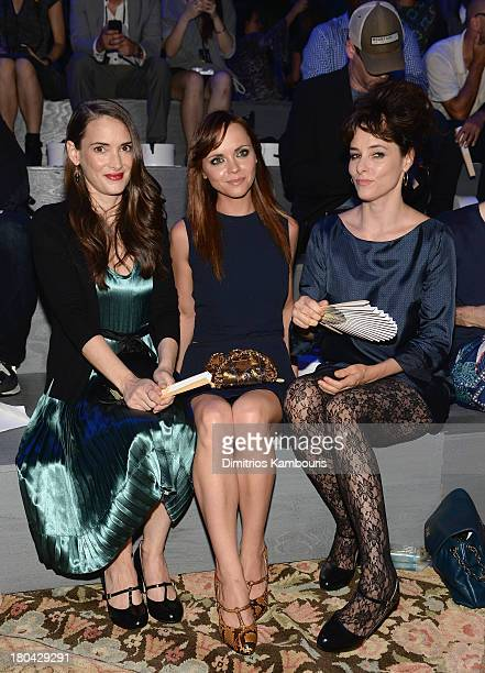 Winona Ryder Christina Ricci and Parker Posey attend the Marc Jacobs Spring 2014 fashion show at The New York State Armory 68 Lexington on September...