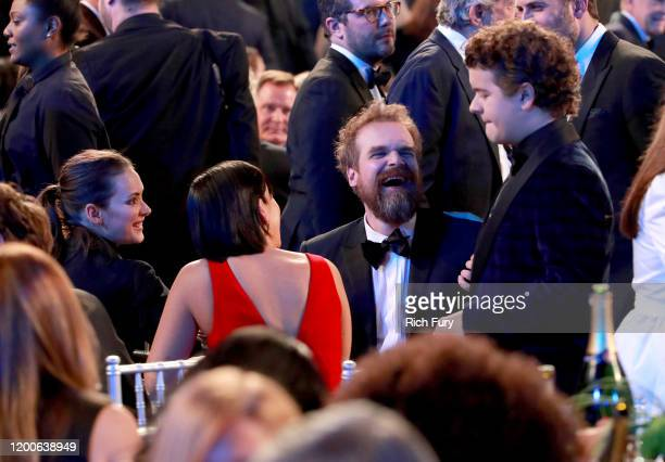 Winona Ryder David Harbour and Gaten Matarazzo attend the 26th Annual Screen ActorsGuild Awards at The Shrine Auditorium on January 19 2020 in Los...