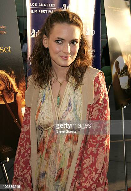 """Winona Ryder during 2004 Los Angeles Film Festival - """"Before Sunset"""" Premiere at ArcLight Cinerama Dome in Hollywood, California, United States."""