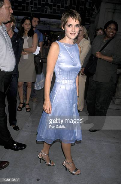 Winona Ryder during Premiere of 'Smoke Signals' at Museum of the American Indian in New York City New York United States