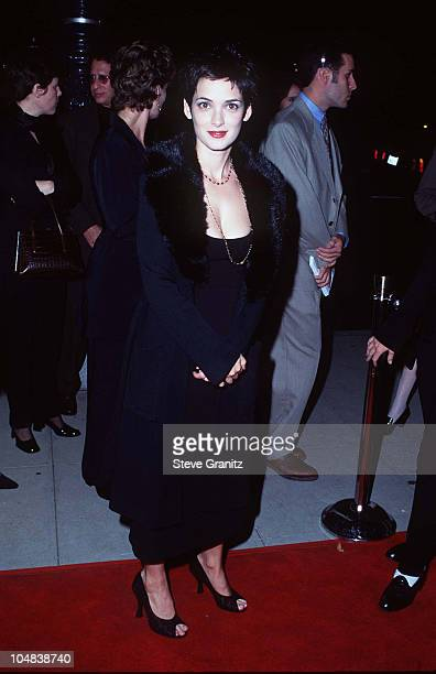 """Winona Ryder during """"The Crucible"""" Los Angeles Premiere at AMPAS Goldwyn Theater in Beverly Hills, California, United States."""