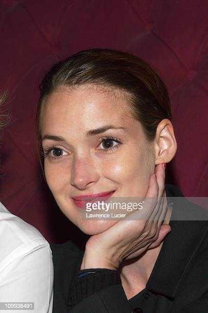 Winona Ryder during Winona Ryder and Sir Richard Branson Celebrate Virgin Mobile's 500000th Subscriber at The Cobalt Room at the Grammery Park Hotel...