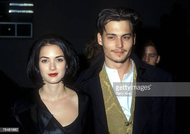 Winona Ryder Johnny Depp in Los Angeles California