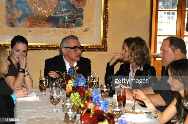 Winona Ryder Martin Scorsese Michelle Pfeiffer during Women in Film Luncheon Honoring Martin Scorsese at Spago in Beverly Hills CA United States