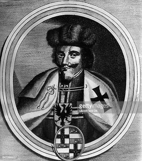 Winrich von KniprodeHochmeister des Deutschen Ordens1351-1382- Porträt, Kupferstich von Johann Salver