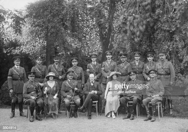 Winston and Clementine Churchill during an Army Council visit to the Rhine Officers in the group include Field Marshal Sir Henry Wilson Field Marshal...
