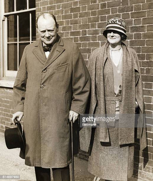 Winston Churchill and his wife Undated photograph