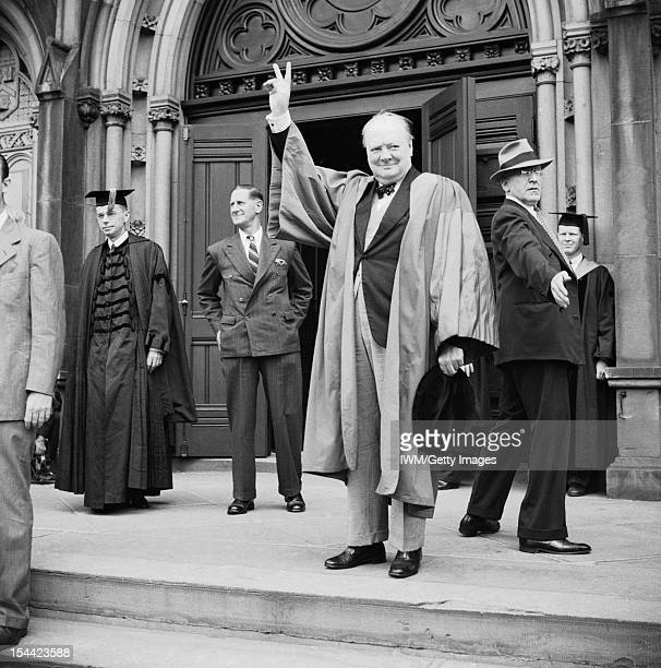Winston Churchill As Prime Minister 19401945 Wartime Travels Churchill receives an honorary degree from Harvard University 6 October 1943