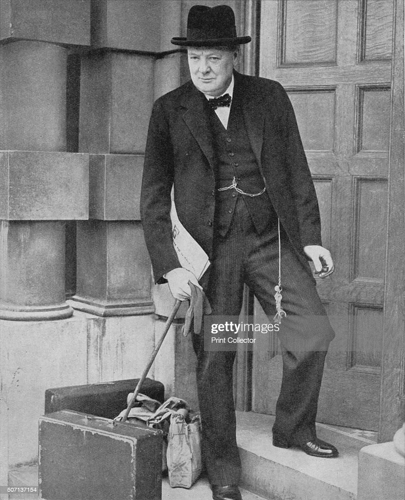 Winston Churchill at the Admiralty', 1939, (1940). On 3 September 1939, Britain declared war on Germany following the outbreak of the Second World War, Churchill was appointed First Lord of the Admiralty, the same position he had held during the First World War. From The War in Pictures. [Odhams Press Limited, London, 1940] Artist: Unknown.