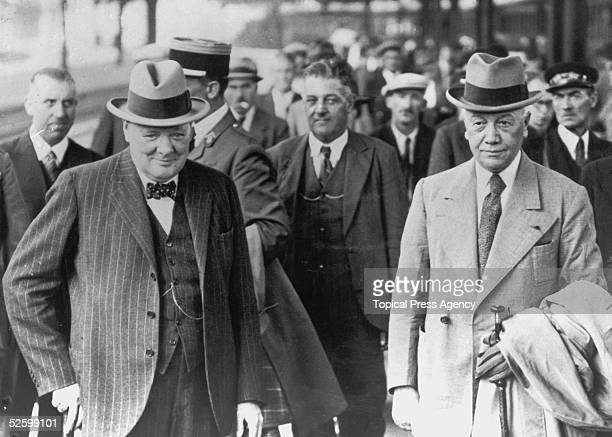 Winston Churchill in Paris with the French Deputy Commander in Chief Land Forces General AlphonseJoseph Georges on their return from a twoday tour of...