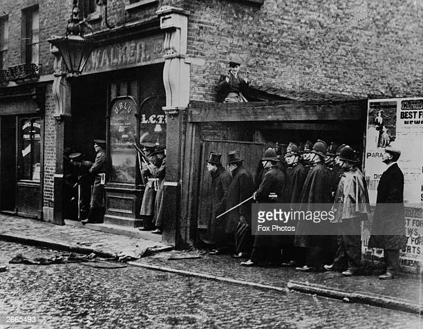 Winston Churchill in Sidney Street Stepney during the Siege of Sidney Street Hundreds of heavilyarmed City and Metropolitan police fought a pitched...