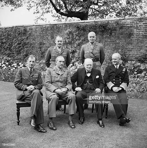 Winston Churchill In The Second World War Churchill with the Chiefs of Staff at a luncheon at 10 Downing Street 7 May 1945 Seated are Sir Charles...
