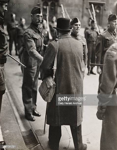 Winston Churchill inspects the Parliamentary Home Guard 1942 Churchill became Prime Minister in 1940 and led Britain during World War II He worked...