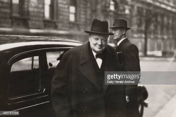 Winston Churchill on his way to the House of Commons February 1943 Churchill became Prime Minister in 1940 and led Britain during World War II He...