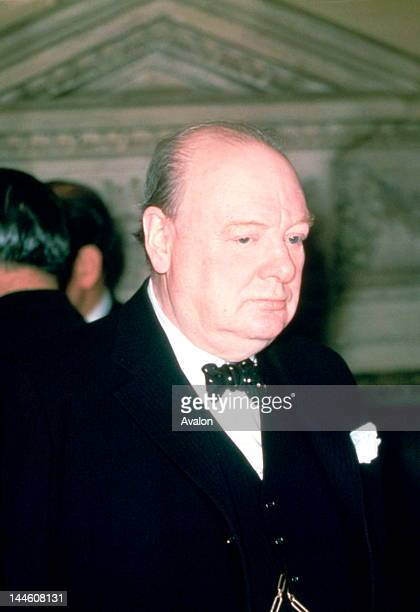Winston Churchill photographed at function in the early 1950's