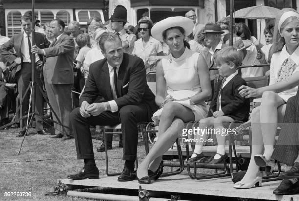 Winston Churchill , the son of Randolph Churchill and grandson of Sir Winston Churchill, with his wife Minnie and son Randolph Spencer-Churchill at...