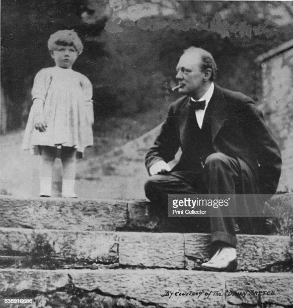 Winston Churchill with his daughter Mary at Chartwell c1924 On 15th September 1922 the Churchills' last child Mary was born Later that month the...
