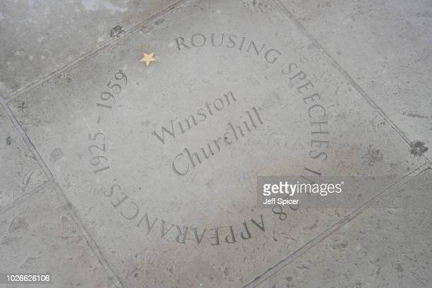 Winston Churchill's star at the Royal Albert Hall 'Walk Of Fame' at Royal Albert Hall on September 4 2018 in London England