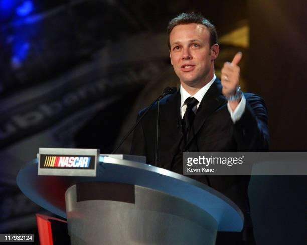 Winston Cup Champion, Matt Kenseth congratulates his team during his acceptance speech