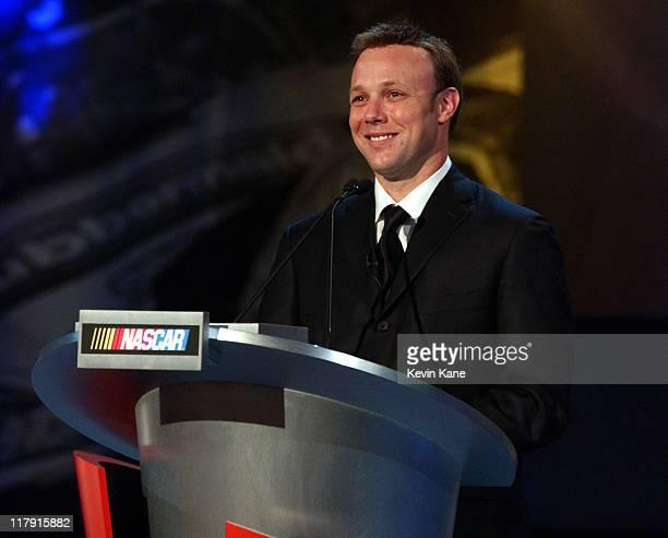 Winston Cup Champion, Matt Kenseth during The 2003 NASCAR Winston Cup Series Awards Ceremony at Waldorf Astoria Ballroom in New York City, New York,...