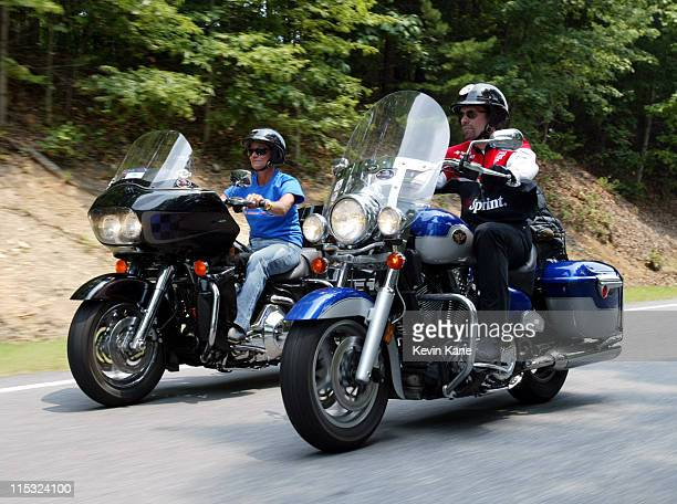 Winston Cup driver Kyle Petty and his wife Pattie, during the last day of the 2002 Kyle Petty Charity Ride Across America