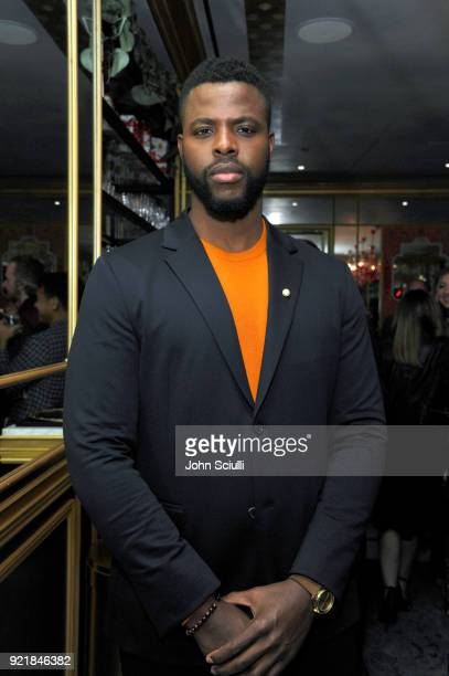 Winston Duke attends GQ and Oliver Peoples Celebrate Timothee Chalamet March Cover Dinner at Nomad Los Angeles on February 20 2018 in Los Angeles...